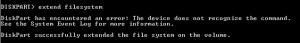 dispartextendfilesystem