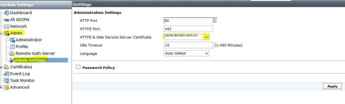 Install Ssl Certificate Into A Fortianalyzer Ajmckean