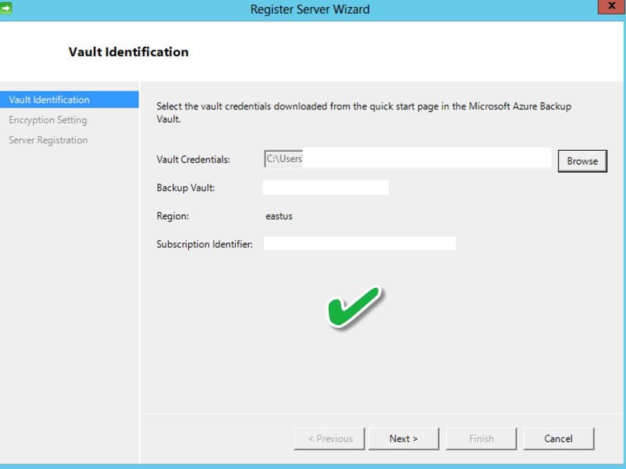 "Azure Recovery Services ""Invalid Vault Credentials""   ajmckean com"